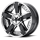 XD SERIES BY KMC WHEELS<br /> XD811 RS2 Machined Face W/ S-blk Windows