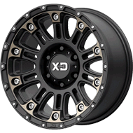 KMC XD829 Hoss 2 Satin Black Mach W/ Dark Tint Clear Coat Wheels