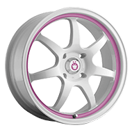 Konig Wheels <br>Forward White Pink Stripe