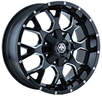 Mayhem Wheels<br/> 8015 Black/Milled Spokes