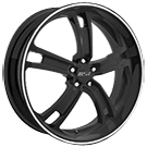 MSR Wheels <br>087 Black