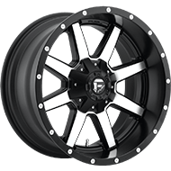 Fuel D537 Maverick Black Machined Wheels