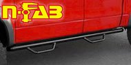 N-Fab <br>Cab Length Step Nerf Bars