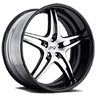Niche Wheels Sportiva M207<br /> Black Machined