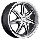 Platinum Wheels<br /> 204 Mantis Diamond Cut Face<br /> with Black Accents and Clear Coat