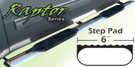 Raptor 6 Inch Stainless Oval Nerf Bars