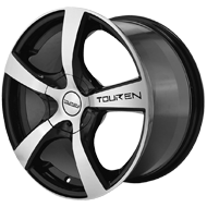 Touren TR9 3190 Black with Machined Face Wheels