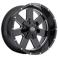 Vision Offroad Arc 411 <br>Gloss Black Milled Spoke