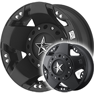 XD775 Rockstar  <br> Dually Black Wheels