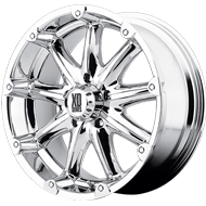 KMC XD779 Badlands Chrome Wheels