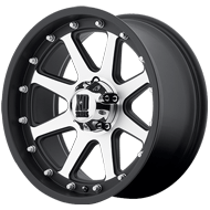 KMC XD798 Addict Wheels Matte Black and  Machined Wheels