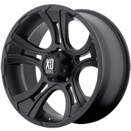 KMC XD801 Crank Matte Black Finish Wheels