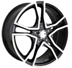 Akita Racing Wheels Ak-85 Black / Machined Face