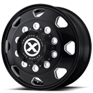ATX WHEELS <BR/>AO401 OCTANE SATIN BLACK MILLED