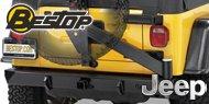 Bestop HighRock 4x4™ <br>Jeep Rear Bumper with Tire Carrier <br>1997-2006 Wrangler TJ