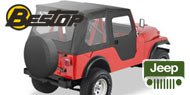 Bestop Tigertop™ Soft Top  <br>51-62 Jeep M-38A1 <br> 55-83 Jeep CJ5