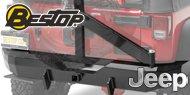 Bestop HighRock 4x4™ <br>Rear Bumper with Tire Carrier <br>2007-2017 Wrangler JK