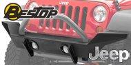 Bestop HighRock 4x4™ <br>Jeep Front Bumper w/ Light Mount <br>2007-17 Wrangler JK 2D/4D