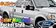 Bushwacker Color-Matched Fender Flares <br> Pocket Style® for Ford