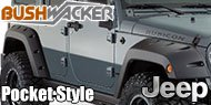 Bushwacker Jeep <br>Pocket Style ® Fender Flares <br>- 4 Piece Set