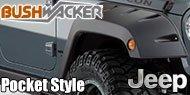Bushwacker Jeep <br>Pocket Style ® Fender Flares <br>- Front Pair
