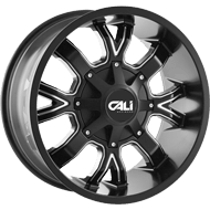 Cali Offroad Wheels <br/>Dirty Satin Black with Milled Spokes