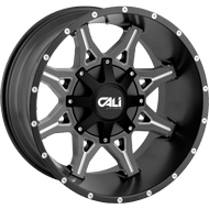 Cali Offroad Wheels<br/> Obnoxious Satin Black with Milled Spokes