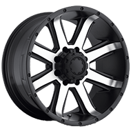 Ultra Wheels<br /> 195 Crusher Satin Black w/ Diamond Cut Face