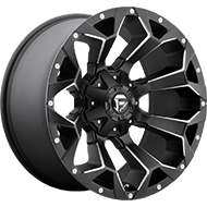 Fuel Wheels <br /> D546 Assault Black & Milled