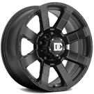 Dick Cepek Wheels <br/>702B DC Matrix Matte Black w/ Lazer-Etched Logo