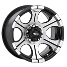 Dick Cepek Wheels <br/>DC1 B Black with Machined Accents Includes Stainless Steel Bolts and Center Caps