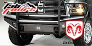 Dodge Black Steel Elite Bumpers