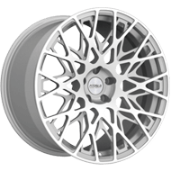 Fittipaldi Wheels <br/>FSF08MS Machined Face with Gloss Silver Accents