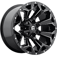 Fuel D576 Assault Gloss Black Milled Wheels