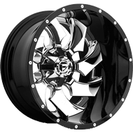 Fuel D240 Cleaver Chrome Center W/ Gloss Black Lip Wheels