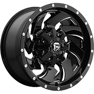 Fuel D574 Cleaver Gloss Black Milled Wheels