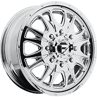 Fuel Wheels D212 Dually Front Throttle Chrome