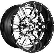 Fuel D270 Sledge Chrome Gloss Black Lip Wheels