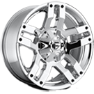 Fuel Wheels <br /> D528 - Pump Powder Chrome
