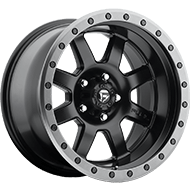 Fuel D551 Trophy Matte Black with Anthracite Ring Wheels