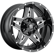 Fuel D554 Full Blown Gloss Black and Milled Wheels