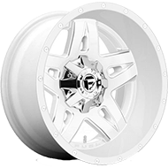 Fuel D555 Full Blown White Milled Wheels