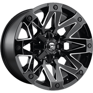 Fuel Wheels D555 Ambush Gloss Black and Milled