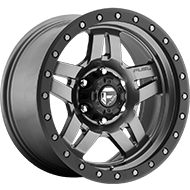 Fuel Wheels <br /> D558 Anza Matte Anthracite with Black Ring