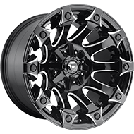 Fuel D578 Battle Axe Black Milled GLS Wheels