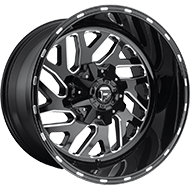 Fuel D581 Triton Black and Milled Wheels