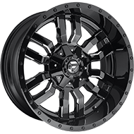 Fuel Wheels<br /> D595 Sledge Black Milled Gls