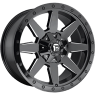 Fuel Wheels<br /> D597 Wildcat Black Milled Gls
