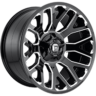 Fuel D607 Warrior Gloss Black and Milled Wheels