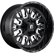Fuel D611 Stroke Gloss Black Milled Wheels